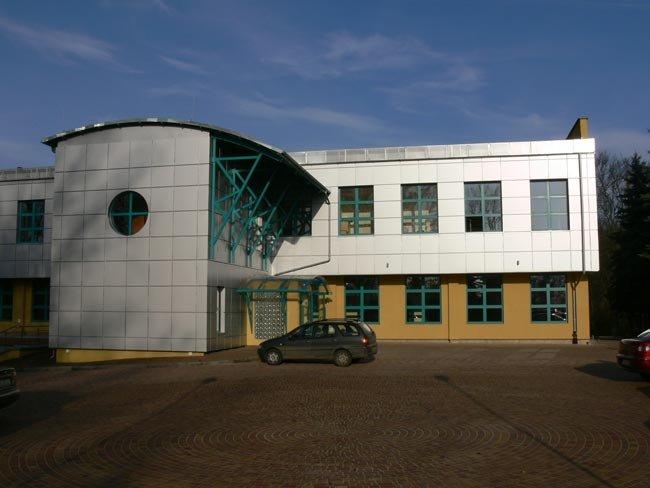 Na zdjęciu odrestaurowany obiekt Europejskiego Centrum Spotkań Seniorów i Osób Niepełnosprawnych oraz Centrum Wspierania Biznesu